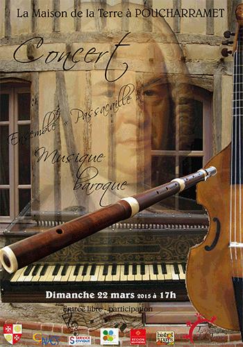 Affiche Concert de Musique Baroque - 2015-03-21