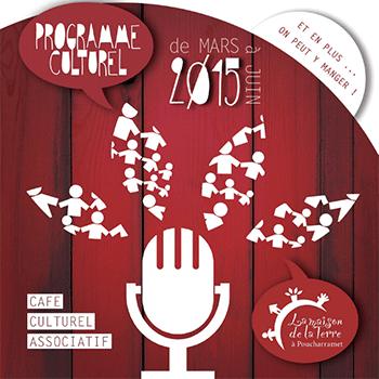 Programme culturel mars à juin 2015