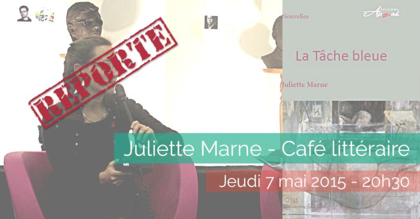 Juliette Marne - Café littéraire - La Maison de la Terre