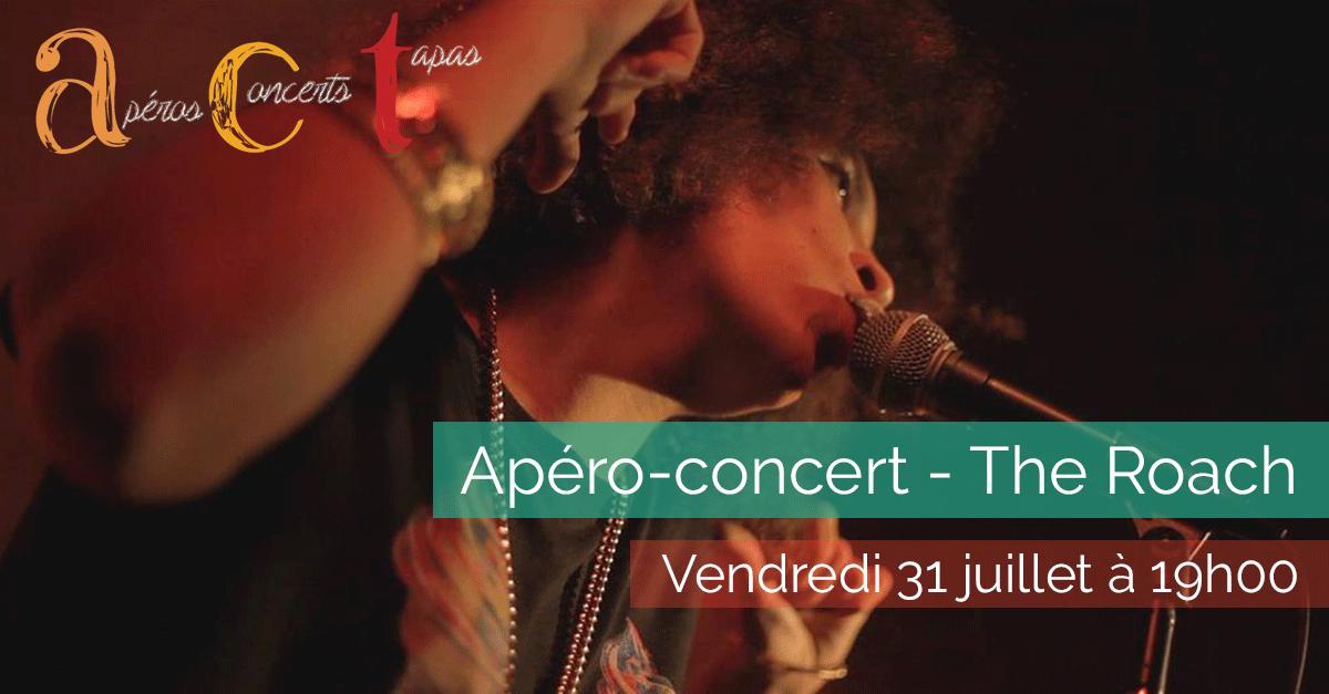 Apéro-concert – The Roach – Vendredi 31 juillet 2015