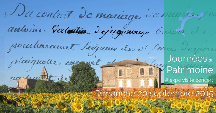 Journées du patrimoine - expo visite concert - 2015-08-20