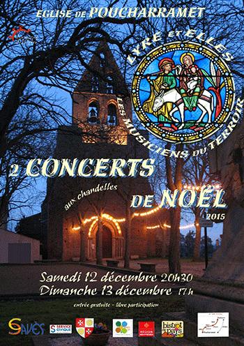 Affiche Concerts -de-Noël  - Sam. 12 et dimanche 13 décembre  2015