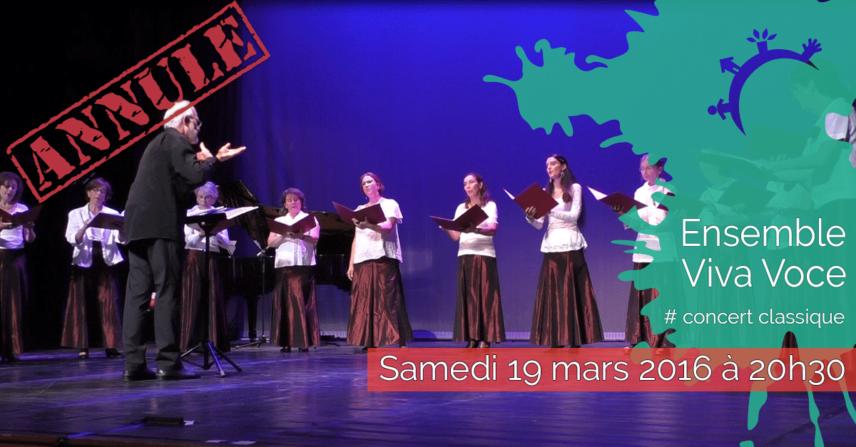 Concert - Ensemble Viva Voce - Samedi 19 mars 2016