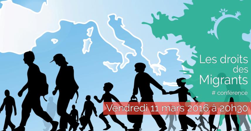 Conférence - Les droits des migrants - Vendredi 11 mars 2016