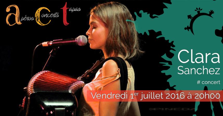 Concert ACT Clara Sanchez – Vendredi 1er juillet 2016
