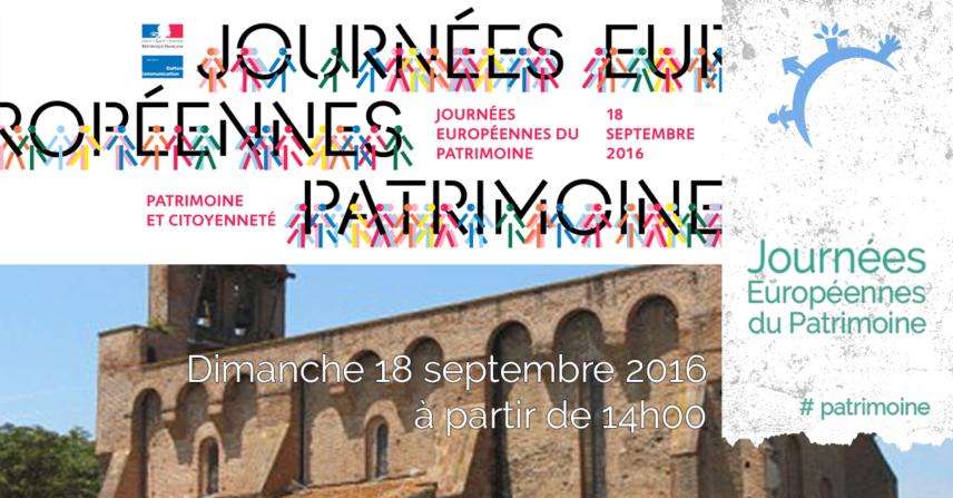Journées Européennes du Patrimoine – Dimanche 18 septembre 2016