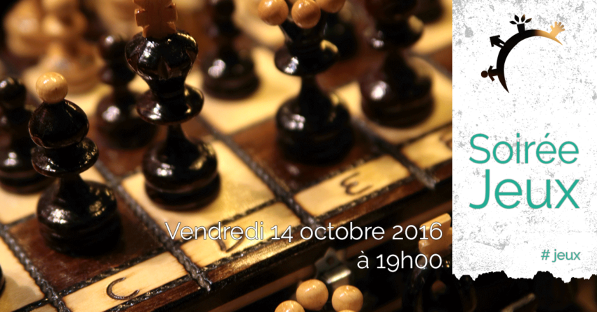 Soirée jeux - Ramène ton jeu et partage... - Vend. 14 octobre 2016