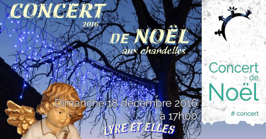 Concert de Noëls aux chandelles - Dimanche 18 décembre 2016