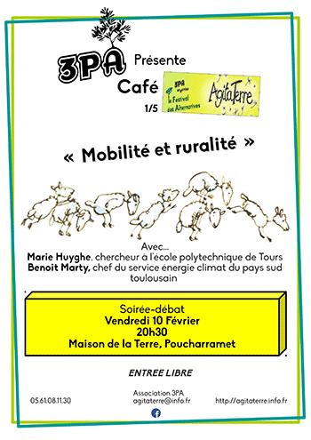Café Agitaterre – Mobilité et ruralité - Vendredi 10 février 2017