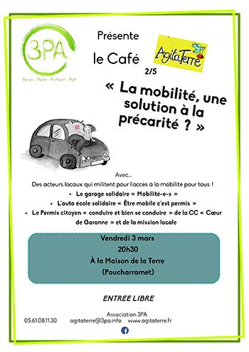 Café Agitaterre – Mobilité contre précarité – Vendredi 3 mars 2017
