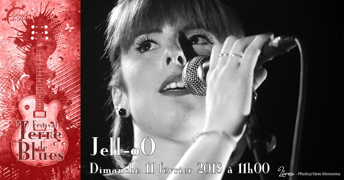 Terre de blues, brunch concert, Jell-oO, dimanche 11 février 2018