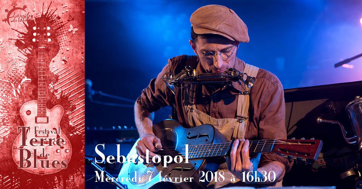 Terre de blues, spectacle jeune public, Sebastopol, mercredi 7 février 2018