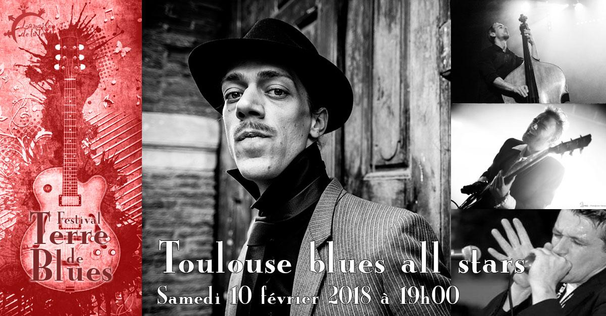 Terre de blues, concert, Toulouse blues all stars, samedi 10 février 2018
