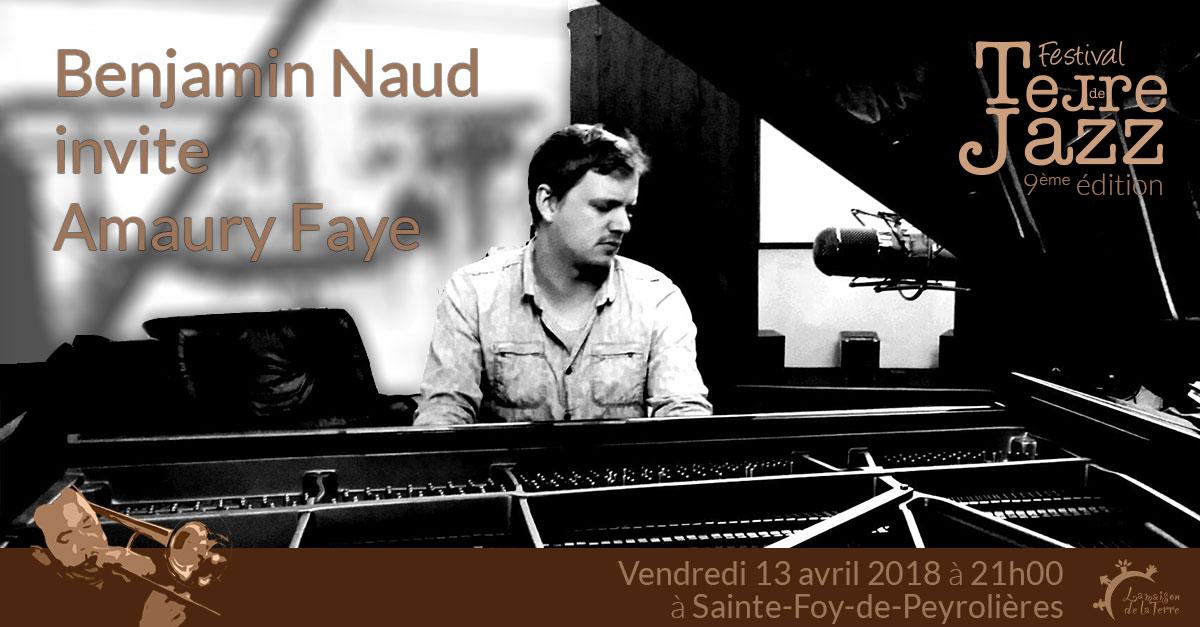Terre de Jazz, concert, Benjamin Naud 4tet invite..., vendredi 13 avril 2018