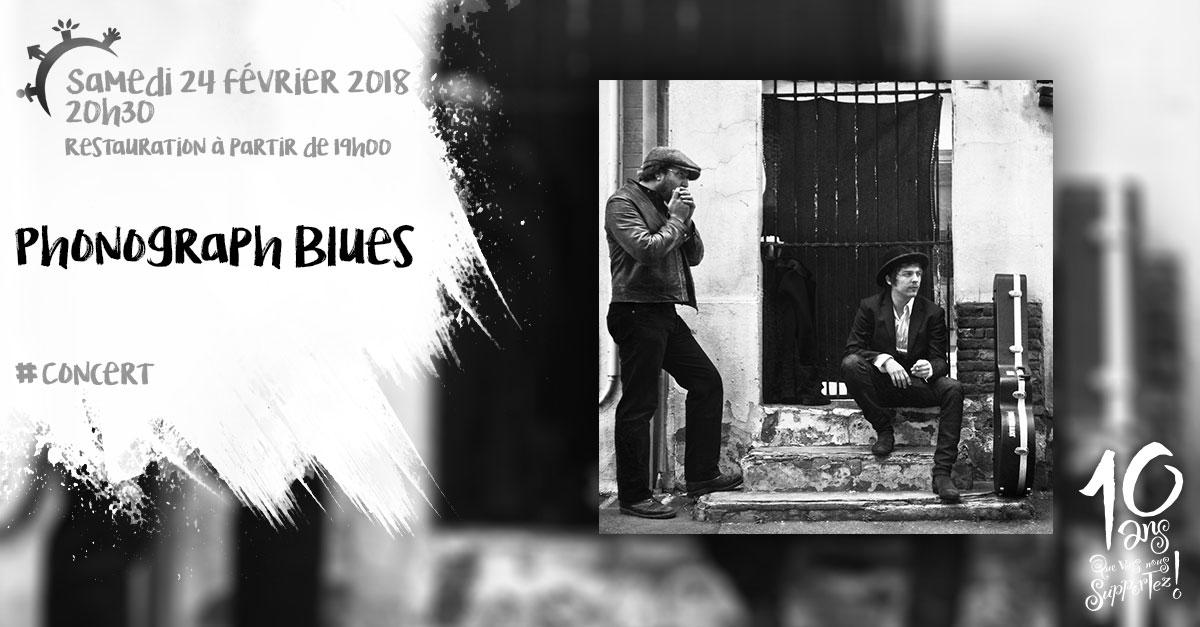 Phonograph Blues, samedi 24 février 2018