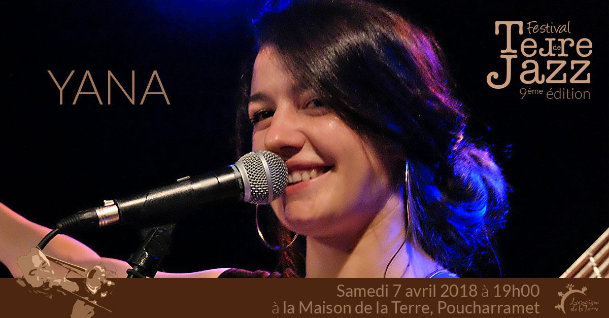 Terre de Jazz, concert, Yana, samedi 7 avril 2018