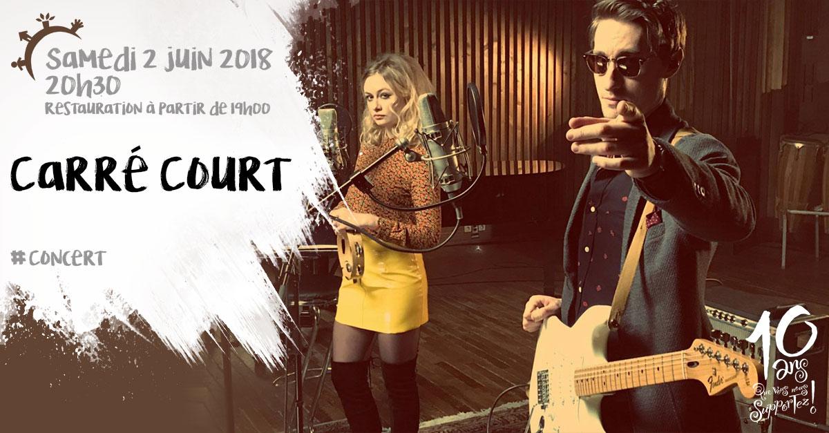 Concert, Carré Court, samedi 2 juin 2018