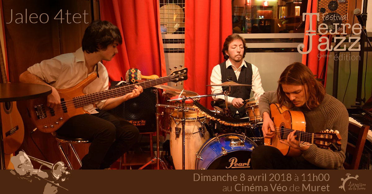Terre de jazz, brunch concert, Jaléo 4tet, Dimanche 8 avril 2018