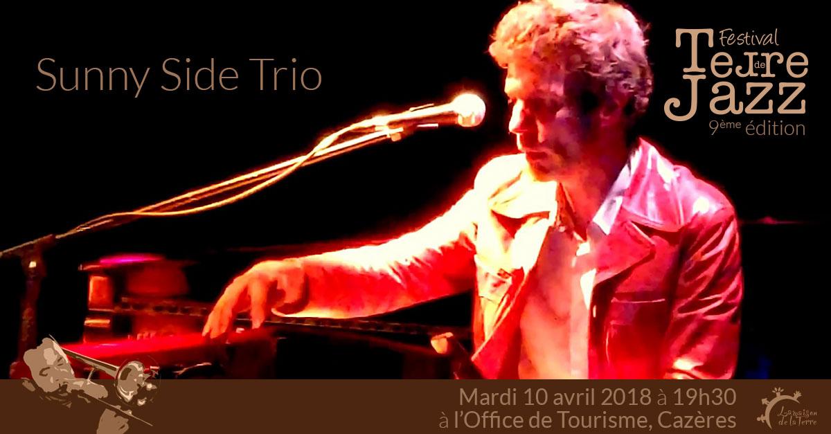 Terre de jazz, concert, Sunny side trio, mardi 10 avril 2018