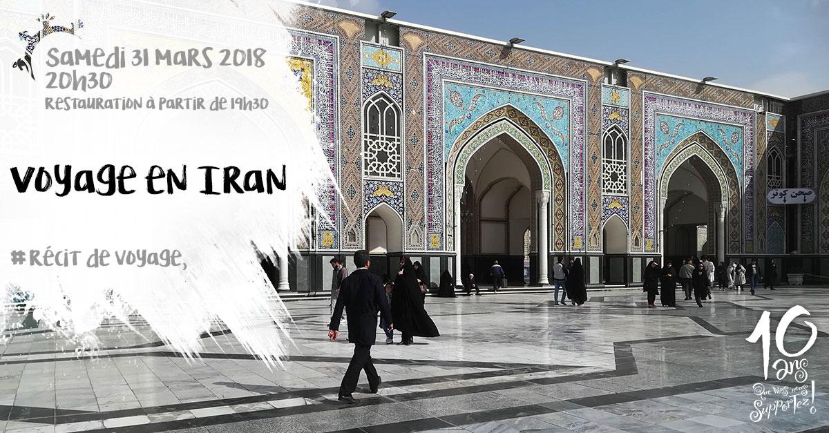 Récit de voyage, voyage en Iran, samedi 31 mars 2018