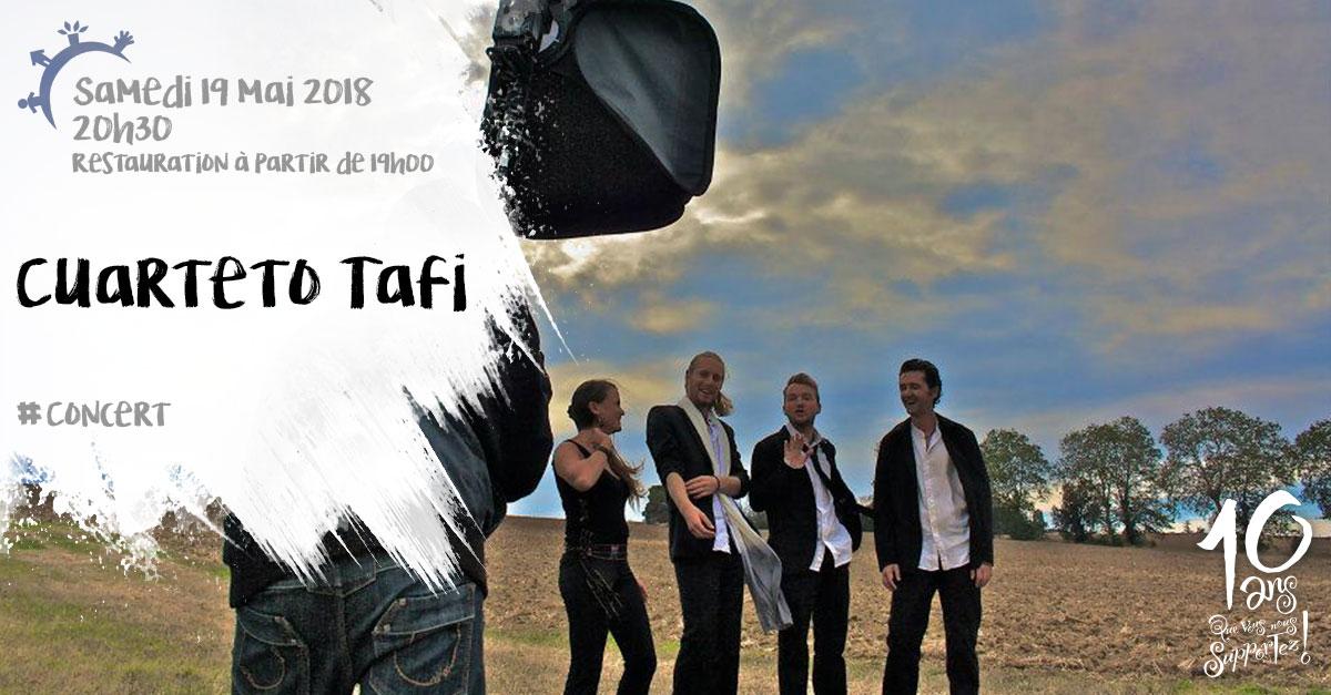 Concert, Cuarteto Tafi, samedi 19 mai 2018