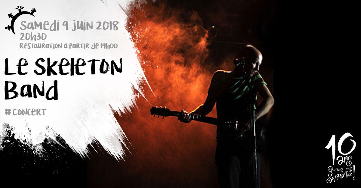 Concert, Le Skeleton Band, samedi 9 juin 2018