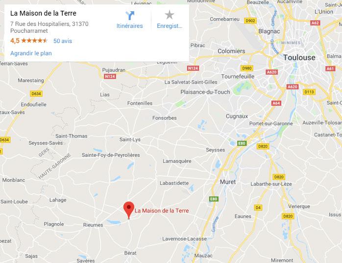 Carte Google Maison de la Terre