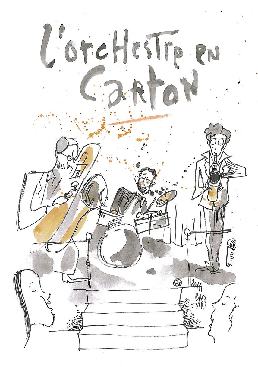 Illustration - Concert, L'orchestre en carton, samedi 23 mars 2019